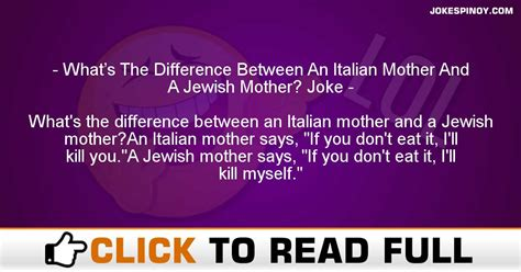 What's The Difference Between An Italian Mother And A