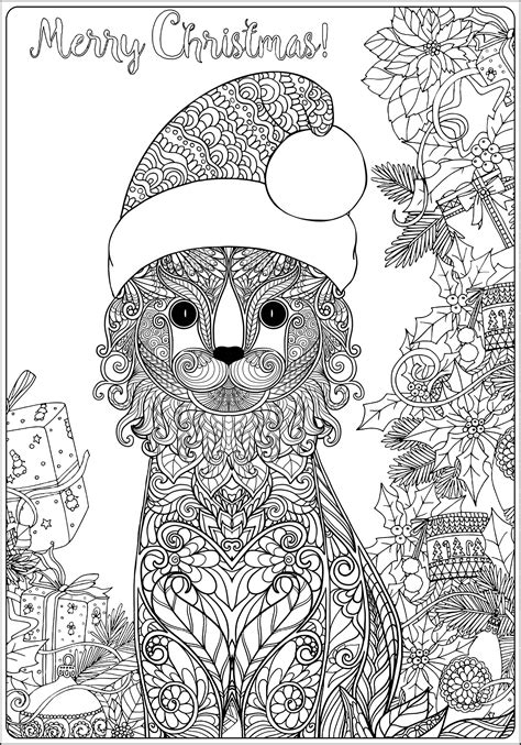 Christmas cat with gifts long version - Christmas Adult