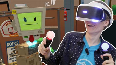 OFFICE WORKER WITH THE PSVR! | Job Simulator (Playstation
